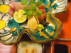 アラと金目鯛の炙り