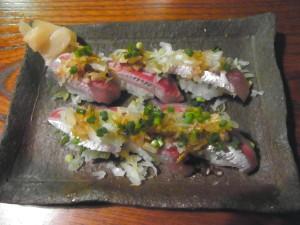 鰯のにぎり寿司