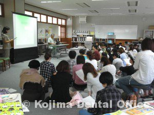 清湖小学校就学時健診時の歯科指導2015