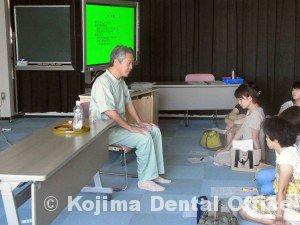 鶴ヶ丘小学校就学時健診時の歯科指導2012④